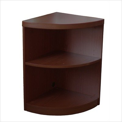 Aberdeen 2-Shelf Quarter Round Bookcase Finish: Mocha