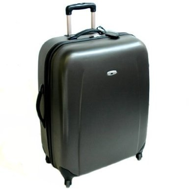"4 Wheeler Abs Hard Shelled 24"" Trolley Suitcase - Black by Borderline"