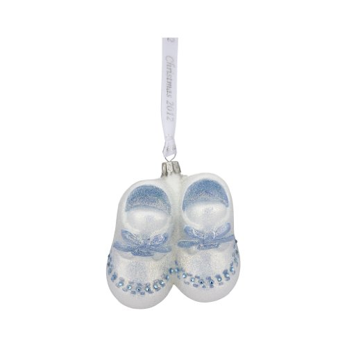 Reed & Barton C0006BLU Baby's First Christmas 2012 Blue Booties Ornament, 3-1/4-Inch High