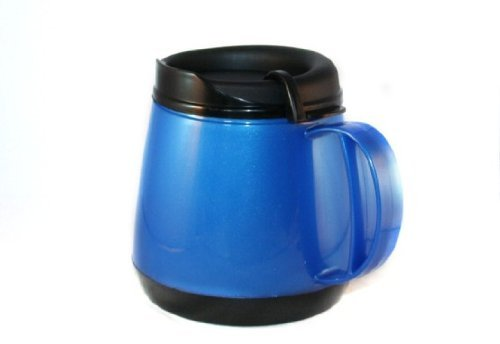 20 Oz. Foam Insulated Coffee Mug Deluxe Wide Body With Skid Resistant Base - Color Blue