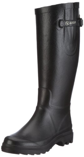 Aigle Women's Aiglentine Black Wellington Boots 858794 5.5 UK