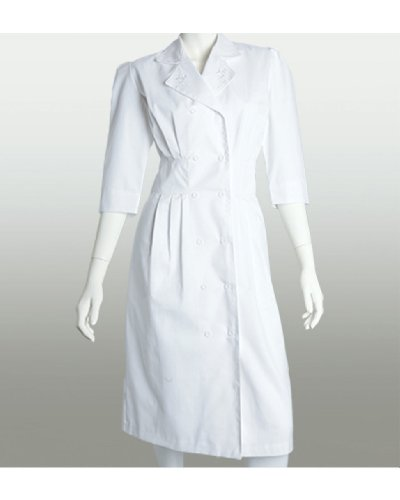 Barco Uniforms White Embroidered Dress (S)