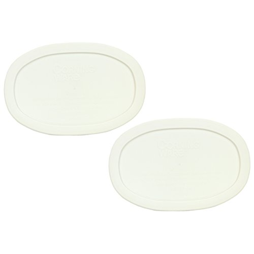 Corningware F-15-PC Oval French White 15-ounce Plastic Lid (2 Pack) (Plastic Lids For Corningware compare prices)