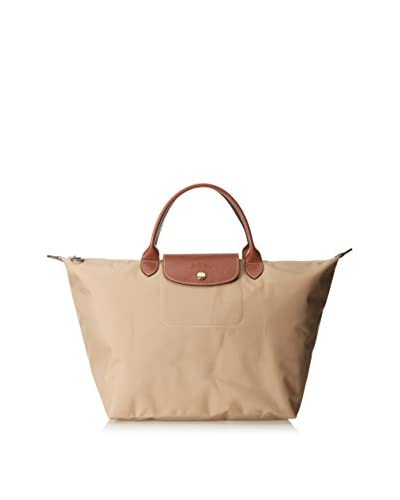 Longchamp Women's Le Pliage Sac Porté Main M Top Handle, Beige