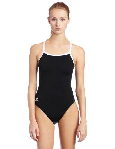 Speedo Women's Race Endurance+ Polyester Flyback Training Swimsuit, Black, 34 image