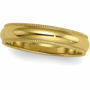 02.50 Mm 10K Yellow Gold Milgrain Band