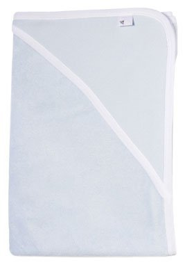 Burt's Bees Baby Double Ply Hooded Knit Terry Towel - Sky