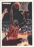 Corie Blount Chicago Bulls 1995 Fleer Autographed Hand Signed Trading Card. by Hall+of+Fame+Memorabilia