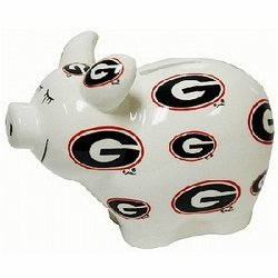ncaa georgia bulldogs piggy bank
