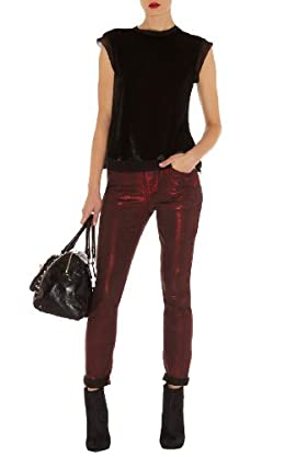 Red Metallic Jean