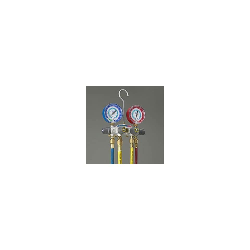 Yellow Jacket 49905 Titan 4 Valve Manifold Set w/ Hoses R 12/22/502