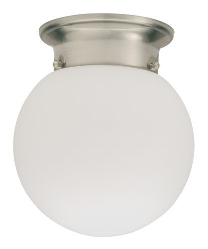 Lithonia 11981 Bnp M4 Round 6-Inch Ceiling Globe, Brushed Nickel