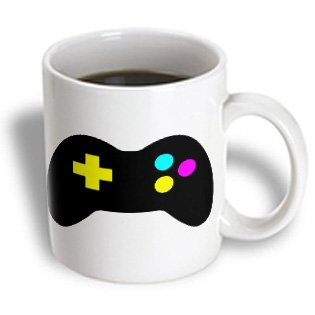 Mug_102385_1 Dooni Designs Cmyk Hipster Designs - Cmyk Gamer Control Icon Graphic Cartoon - Mugs - 11Oz Mug