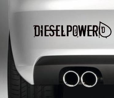 Diesel Powered Funny Decal Vinyl Sticker JDM Euro Drift Lowered Stance Laptop Ipad Window, Wall, Car, Truck, Motorcycle