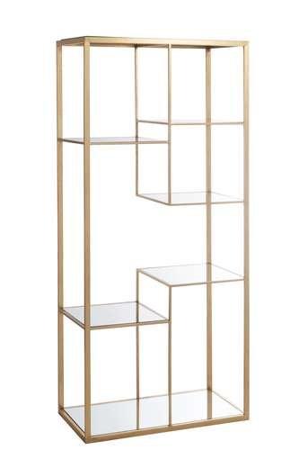 Scaffale in vetro asimmetrico