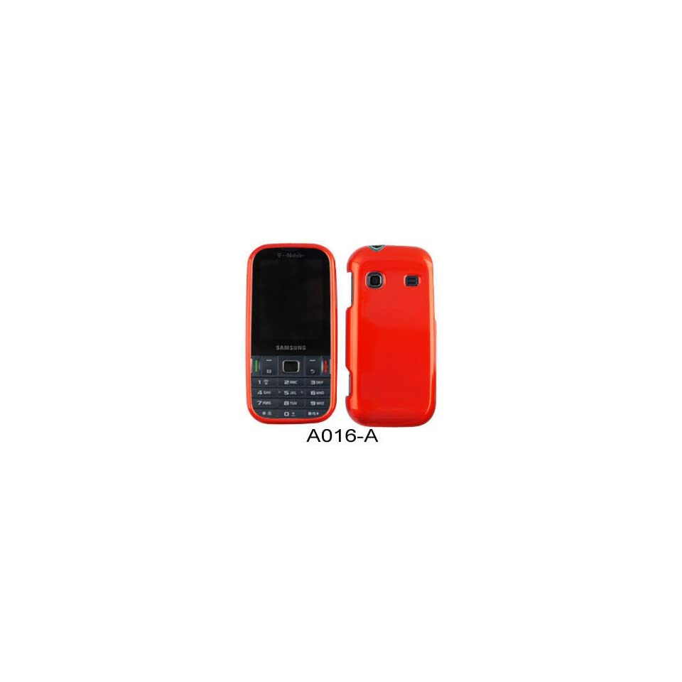 SHINY HARD COVER CASE FOR SAMSUNG GRAVITY TXT T379 DARK RED