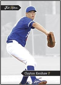 2006 Just Minors JUST ROOKIES Jr-23 Clayton Kershaw RC - Los Angeles Dodgers (Rookie Card) MLB Baseball Trading Card