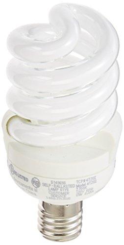 TCP 4T213I CFL SpringLamp - 60 Watt Equivalent (only 13W used) Soft White (2700K) E17 Base Spiral Light Bulb