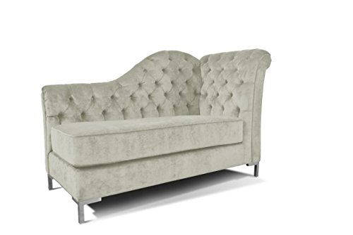 Decenni Everly Tufted Left Arm Chaise Facing Lounge Chair Sonoma Bone front-720309