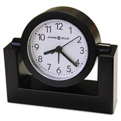 "Tabletop Alarm Clock, 3-1/2"", Black"