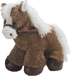 "First Main Inc. 4375 10"" Horse With Leather Reins and Hoofs - Brown - 1"