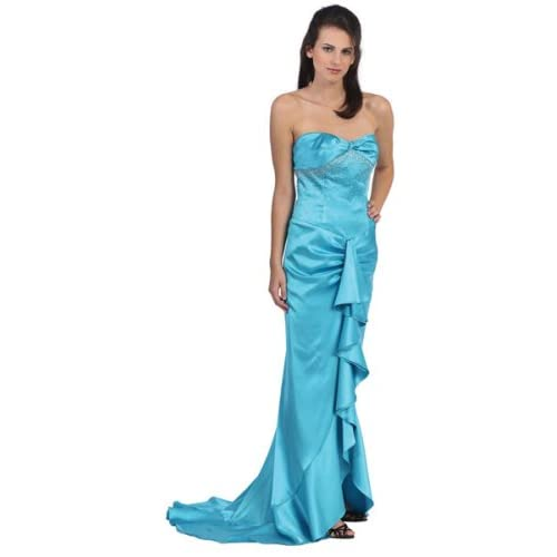 sexy teen with evening gown
