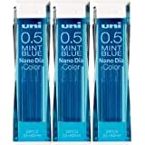 Uni Color Pencil Lead 0.5 mm, Mint Blue, 10 Leads X 3 Pack/total 30 Leads (Japan Import)
