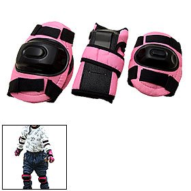 Learn More About Pink Kids Knee Elbow Wrist Protective Guards Pads for Inline Ice Skate