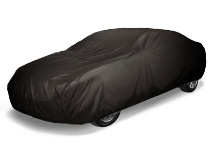 CoverMates Ultima - Semi Custom Fit Car Cover Premium Solution-Dyed 300D Polyester with Free Storage Bag! (Black)
