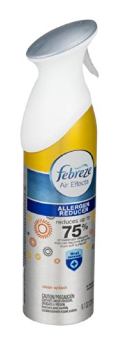Febreze Air Effects First Defense Air Refresher Allergen Reducer Clean Splash 9.7 OZ (Pack of 36)