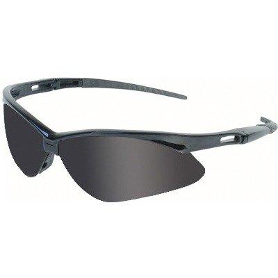 Glasses Black Frame Smoke Lens Anti Fog