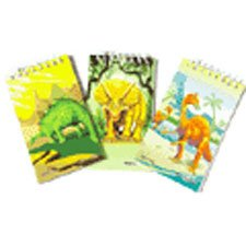 US Toy - Assorted Dinosaur Theme Mini Spiral Notebook Memo Pads, Lot Of 12