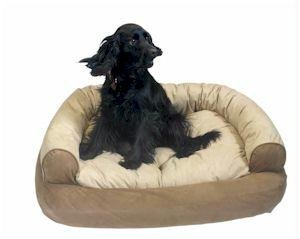 Snoozer Overstuffed Luxury Pet Sofa, Small, Leaf front-898159