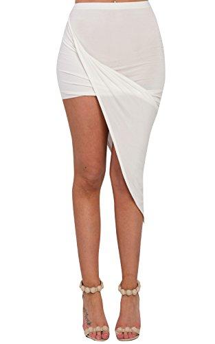 Women's Ladies Gathered Casual Summer Asymmetric Skirt