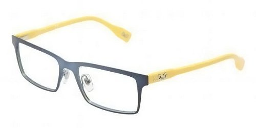 D&g By Dolce & Gabbana Men's 5115 Matte Night Blue / Yellow Frame Stainless Steel Eyeglasses, 52mm