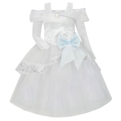 Disney Store Deluxe Cinderella Wedding Costume Dress Heart shaped Jewel