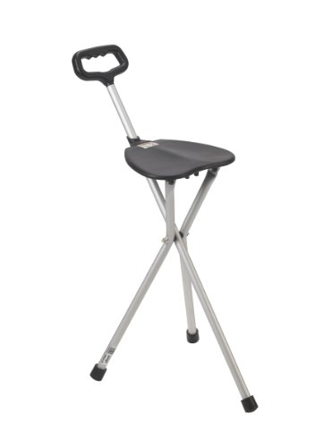 Drive Medical Deluxe Folding Cane Seat, Black (Portable Stools Folding compare prices)