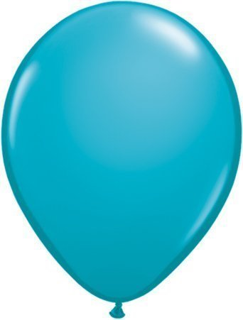 "Tropical Teal 16"" Qualatex Latex Balloons x 5"