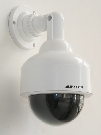 Outdoor Dome Fake Security Camera with BLINKI...