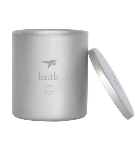 Keith Ti81 300 Titanium Camping Mug Double Wall Mug Outdoor Cup