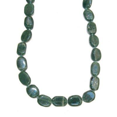 Aventurine Necklace 01 Beaded Green Oval Crystal Healing Gemstone 17