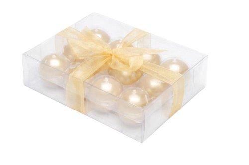 Biedermann & Sons Metallic Ball Candles Box Of 12 Gold 1.5-Inch Diameter
