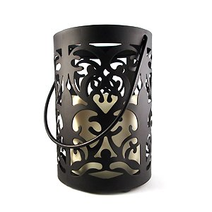 Seville Lantern with Flameless Candle – Auto Timer