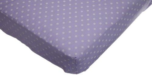 Imagen de American Baby Compañía Cuna Hoja de percal, Dots Lavanda