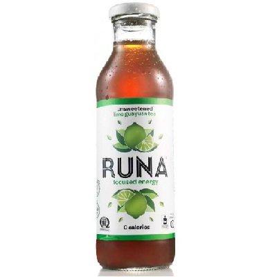 Runa Unsweetened Lime Guayusa Tea, 14 Fluid Ounce -- 12 Per Case.