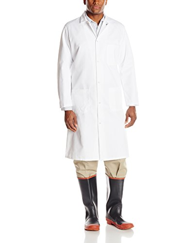 Red Kap Men's Gripper-Front Butcher Frock, White, Medium (Butchers Supply compare prices)