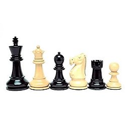 Jacques Black Stained Kari Chessmen