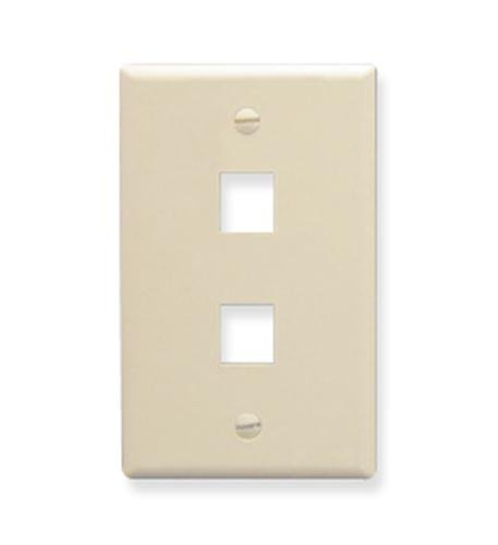 ICC FACE-2-AL IC107F02AL - 2Port Face Almond