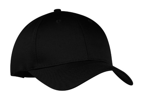 Port & Company Men's Six Panel Twill Cap OSFA Black (Six Panel Hat compare prices)
