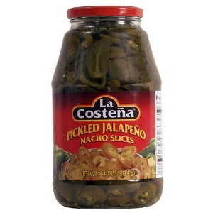 Glass La Costena Pickled Nacho Slice, Jalapeno, 64 Ounce
